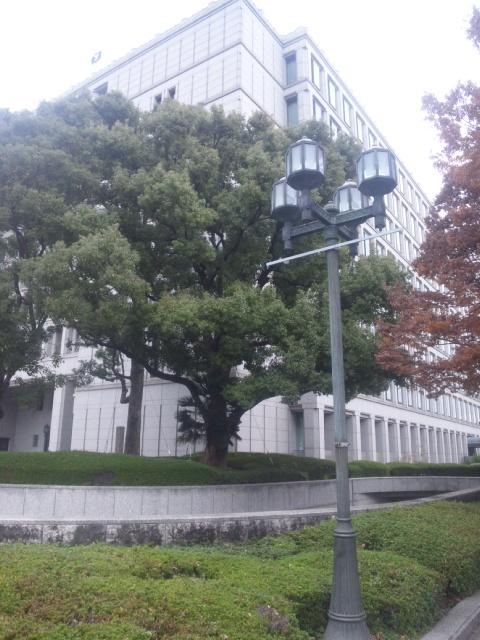 大阪市役所にて