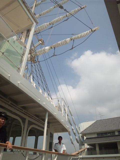 岬水軍・着岸下船