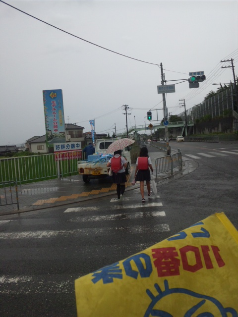 見守り隊台風8号接近中!