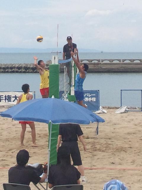 ビーチバレー高校男子全国大会決勝