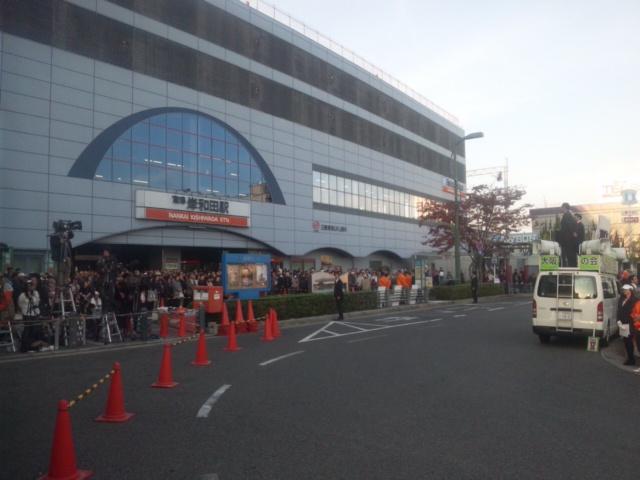 本日最終南海・岸和田駅前