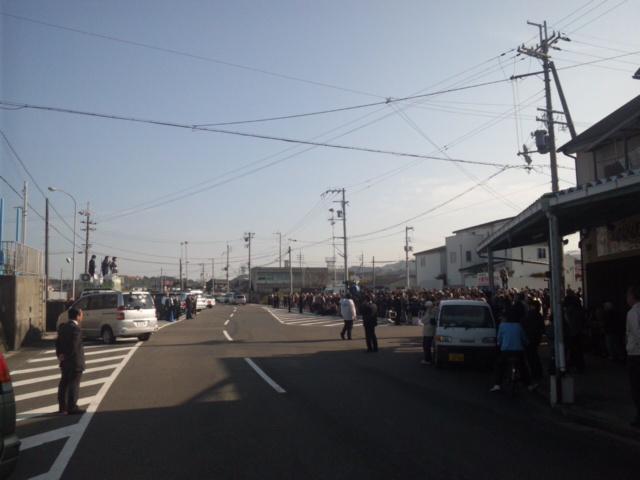 深日港、阪南スカイタウン街頭タウンミーティング終了