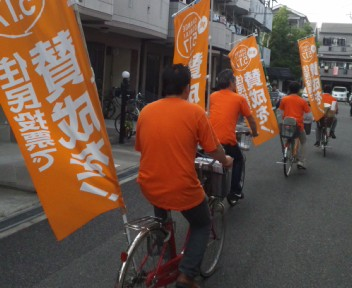 路地裏自転車隊