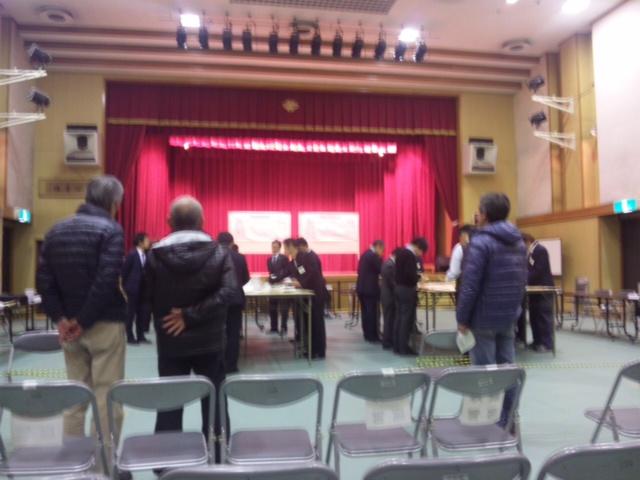 知事選挙・開票作業