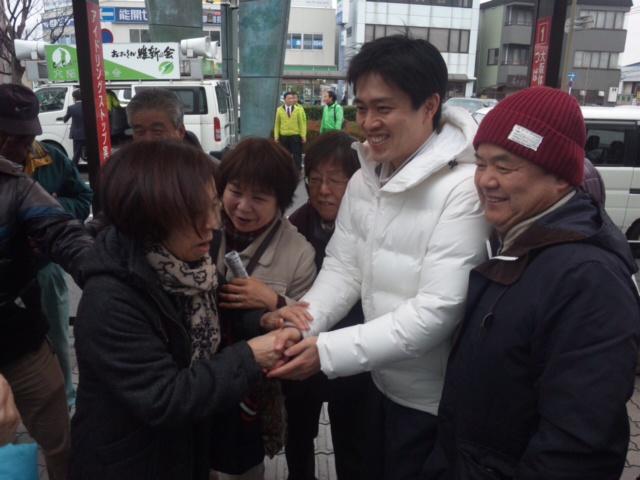 吉村・大阪市長、熊取にて街頭演説会
