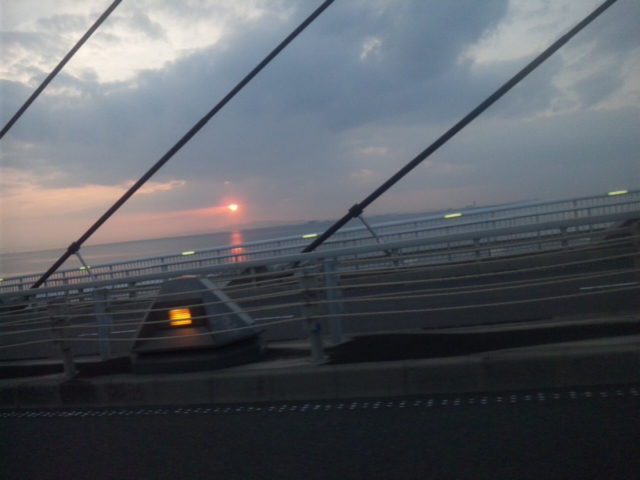田尻町スカイブリッジから夕景