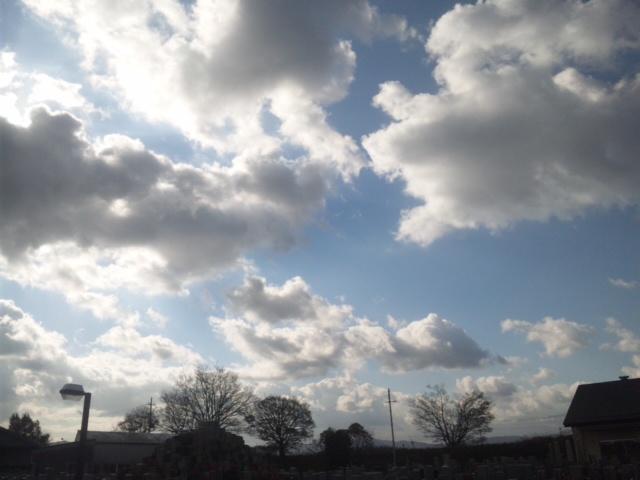 今日は、雲がいいです!