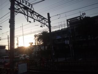 冬至の日、日の出