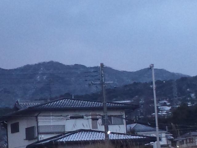 大阪府の南部も、雪化粧です!