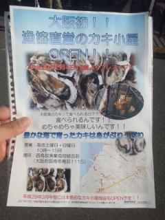 本日12時よりプレオープン大阪初・西鳥取漁港直営のカキ小屋