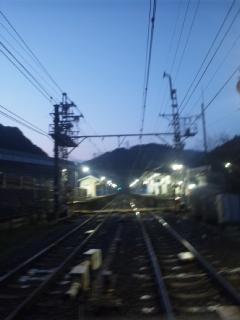 本日の朝立 大阪最南端の駅・孝子駅にて