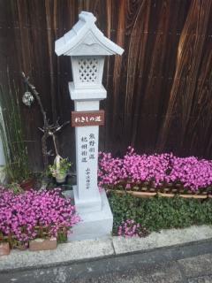 阪南市の熊野古道・紀州街道筋の山中渓にて、府政報告書のポスティング
