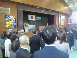大阪府内の中学校は、入学式 私は田尻中学校へ