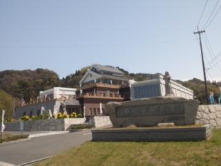 春の桜舞う美しい「しまなみ街道」 村上水軍博物館