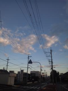 大嵐のあと、朝立は、泉南市の新家駅です!