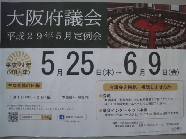 大阪府議会5月定例会です!