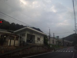 6月の朝立開始! 今朝は、岬町の孝子(きょうし)駅(南海本線)です!
