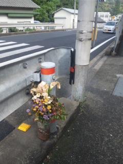 孝子駅の朝立で、毎回、私の感心すること それは、孝子駐在所のおまわりさんの行動!