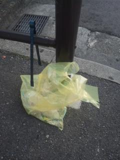 本日の朝立は、阪南市の尾崎駅です! 朝立の前に、駅周辺の掃除から始めます!