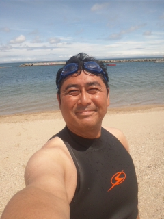 7月始まり 「海開き」を終え、「初泳ぎ」です!