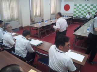 府庁にて勉強会 特別区制度の区割り案