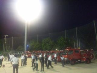 消防団員規律訓練の陣中見舞