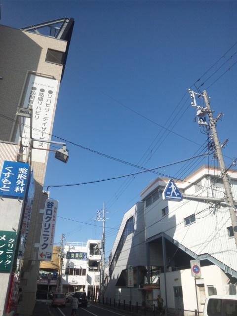 さわやかな8月の終わり きれいな青空だ 淡路島や六甲山も美しく