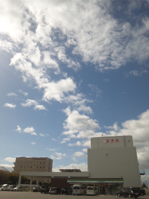 台風一過のスゴい青空が現れましたが、