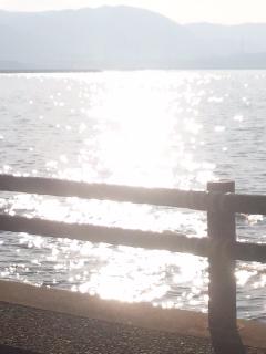 大阪の海 太陽の反射 月の反射