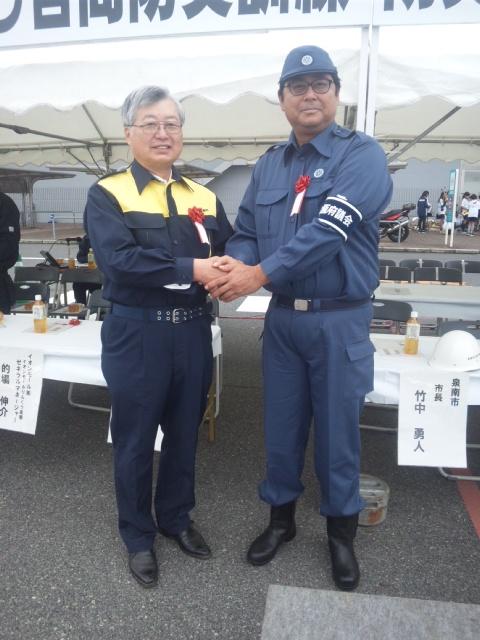 平成29年度泉南市・イオングループ合同防災訓練