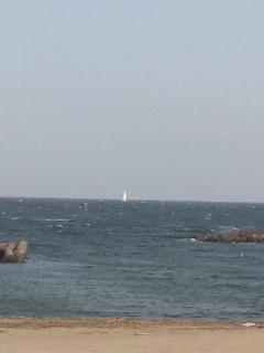 白波がたつと、海上では風速10m<br />  以上です!