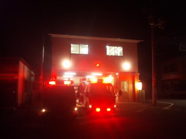 【歳末夜警】今夜最終は、岬町消防団の淡輪・孝子分団にお伺いしています!
