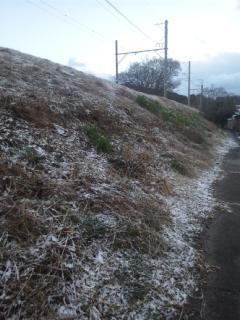 【朝立】今朝は、雪です!深日町駅です!