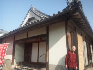 泉南・光平寺にて、平岡龍人先生に、ご挨拶に