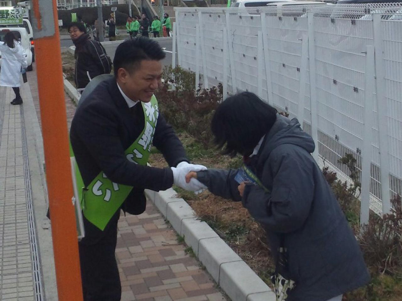 【岸和田市長選挙】岸和田カンカン前・街頭演説終了!次へ!