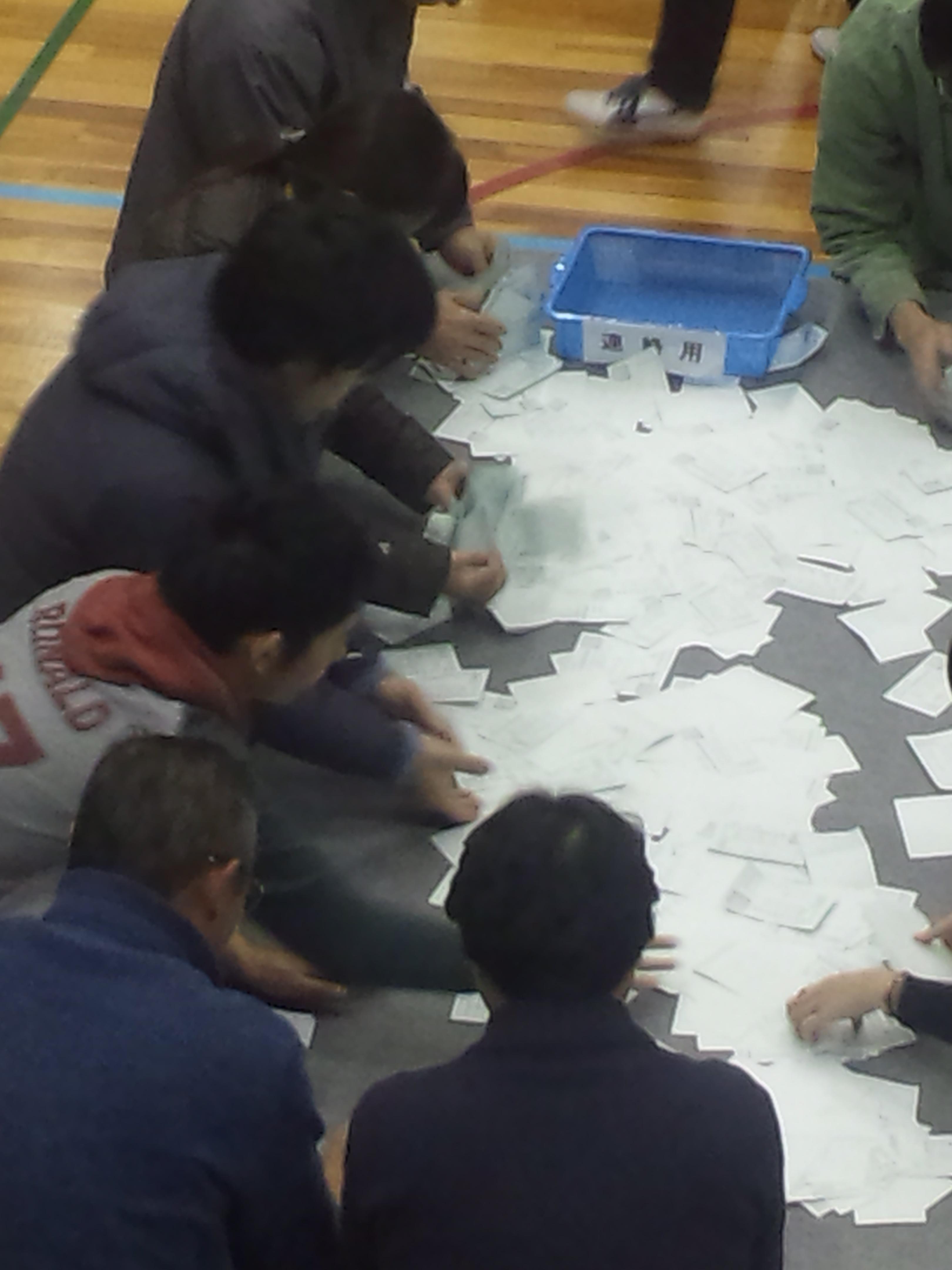 【岸和田市長選挙】岸和田の開票作業は、見える場所で行ってくれるので、親切