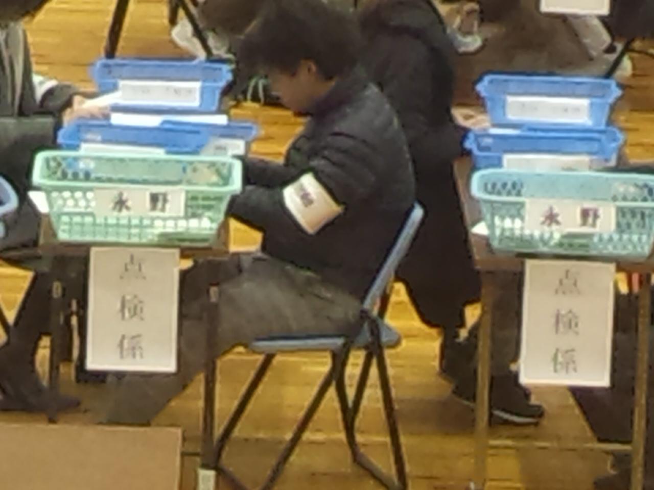 【岸和田市長選挙】開票作業は、永野VS信貴