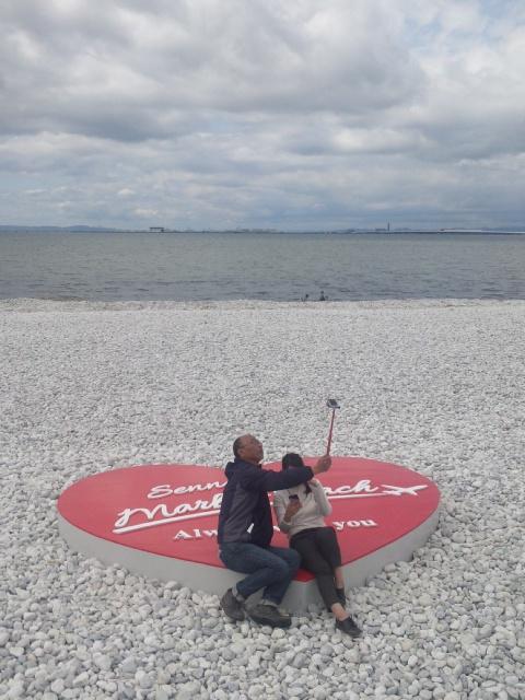 恋人の聖地・泉南市マーブルビーチ こんな感じで写真を撮りに来て下さい!