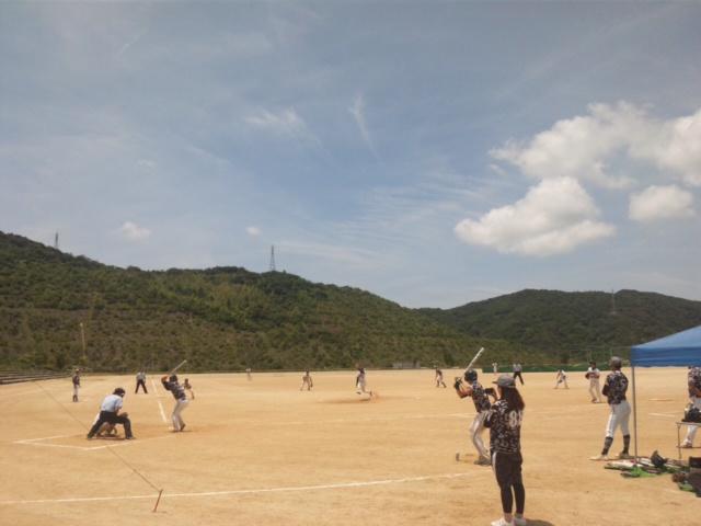続きまして、大阪のテッペンを決める試合・ソフトボール男子 岬町の多目的公園(<br />  関空土取跡地)<br />  にて