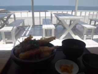 泉南のサザンぴあにて、あなご・海老天丼を食す!